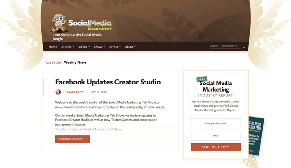 Social Media Examiner — если вы больше по соцсетям